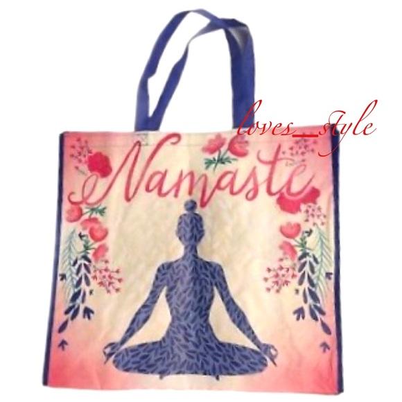 NEW Shopping Bag Pink Yellow Yoga Reusable Tote Marshalls Bag NWT